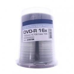 DVD-R, 4.7Gb, 16X , Printabile Glossy, Traxdata , set 100 buc