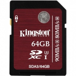 Card memorie Kingston SDXC 64GB Clasa 10 UHS-I