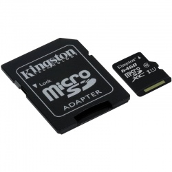 Card memorie Kingston Micro SDXC 64GB Clasa 10, UHS-I, ver G2 + Adaptor SD