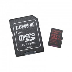 Card memorie Kingston Micro SDXC 64GB Clasa 10, UHS-I U3 + Adaptor SD