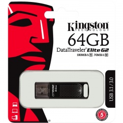 Memorie externa Kingston DataTraveler Elite G2 64GB USB 3.0 MetalBlack