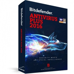 Securitate Bitdefender Antivirus Plus 2016, 1 PC, 1 an, New license, Retail