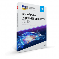 Securitate Bitdefender Internet Security 2018, 1 PC, 1 an, New License, Retail Box
