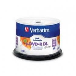 Blank DVD+R Verbatim DL 8X 8.5GB cake 50 buc, printabil