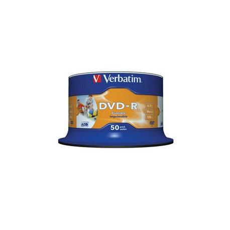 Blankuri Verbatim 43533 DVD-R 16x ,printabile, 50 buc. sp50pk