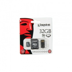 Card memorie Kingston Micro SDHC 32GB Clasa 10 UHS-I + Adaptor SD + Card Reader USB 2.0
