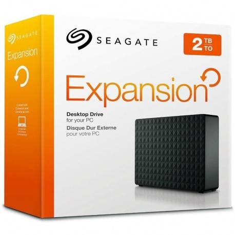 Hard disk extern Seagate Expansion Desktop Drive 2TB 3.5 inch USB 3.0 black