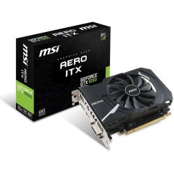 Placa video MSI GeForce GTX 1050 AERO ITX OC 2GB GDDR5 128-bit
