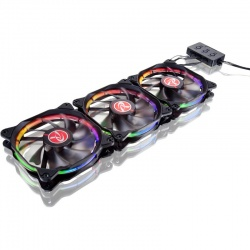 Ventilator / radiator Raijintek AURA 12 RGB LED with Controller , 3 Pack