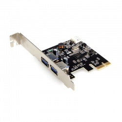 Adaptor Gembird 1x PCI-E Male - 2x USB 3.0 Female