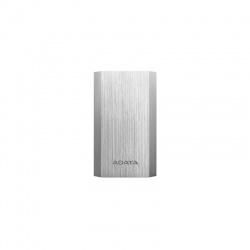 Baterie externa ADATA A10050, 10050mAh, 2x USB, 2.1A, argintiu