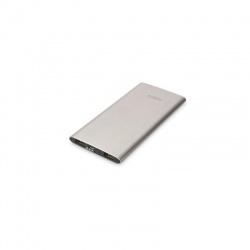 Baterie externa EDNET Slim Line, 5000mAh, 2x USB, 2.1A, Grey