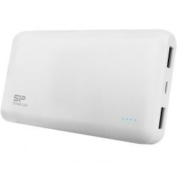 Baterie externa Silicon-Power Power S150, 15000 mAh, 2.1A, 2x USB, LED, White