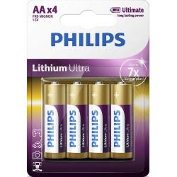 Baterii Philips Lithium Ultra FR6LB4A/10, AA, 4 buc