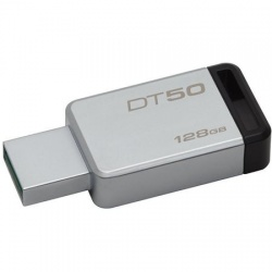 Stick USB Kingston, 128GB, USB 3.0, DataTraveler 50, Metal Black