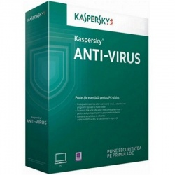 Securitate Kaspersky Anti-Virus 2017, 3 PC, 1 an + 3 luni, Retail, New license