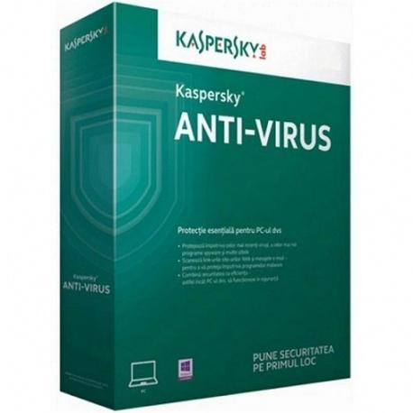 Securitate Kaspersky Anti-Virus 2017, 1 PC, 1 an + 3 luni, Retail, New license