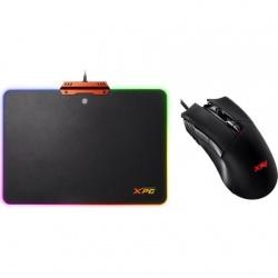 Mouse gaming RGB ADATA XPG INFAREX M10 + Mousepad gaming RGB INFAREX R10