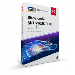 Securitate Bitdefender Antivirus Plus 2018, 3 PC, 1 an, New License, Retail Box
